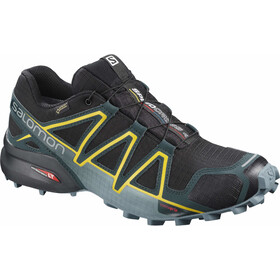 Salomon Speedcross 4 GTX Chaussures Homme, black/reflecting pond/spectra yellow